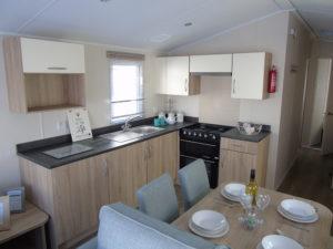 NEW 2020 Willerby Castleton 38ft x 12ft - 2 bed Static Caravan Holiday Home Sited on caravan park in North Wales - Bryn Defaid Lodge & Caravan Park - dining area views