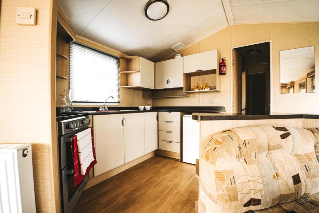 Preowned 2011 Willerby Westmorland 35ft x 12ft - 2 Bedroom Static Caravan Holiday Home - Bryn Defaid Lodge & Caravan Park, Llanddulas Nr Abergele, North Wales - Kitchen