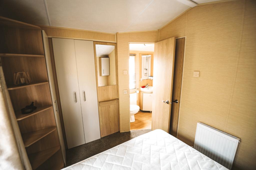 Preowned 2011 Willerby Westmorland 35ft x 12ft - 2 Bedroom Static Caravan Holiday Home - Bryn Defaid Lodge & Caravan Park, Llanddulas Nr Abergele, North Wales - Master Bedroom with Jack & Jill to Shower Room