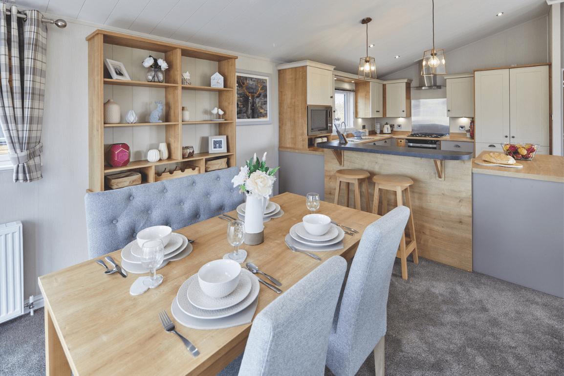 Last lodge plot on Bryn Defaid Lodge and Caravan Park nr Abergele, North Wale - New 2021 Willerby Potland Lodge 40ft x 20ft - Dining Room