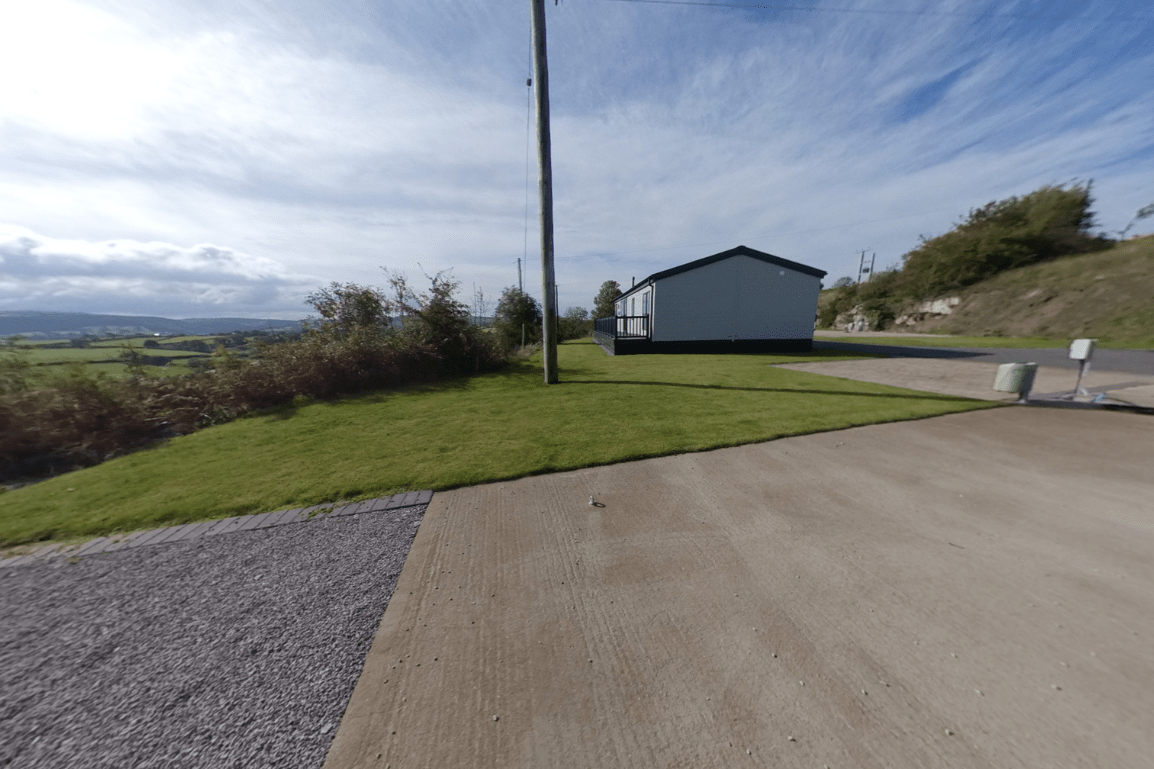 Last lodge plot on Bryn Defaid Lodge and Caravan Park nr Abergele, North Wales - View to the right