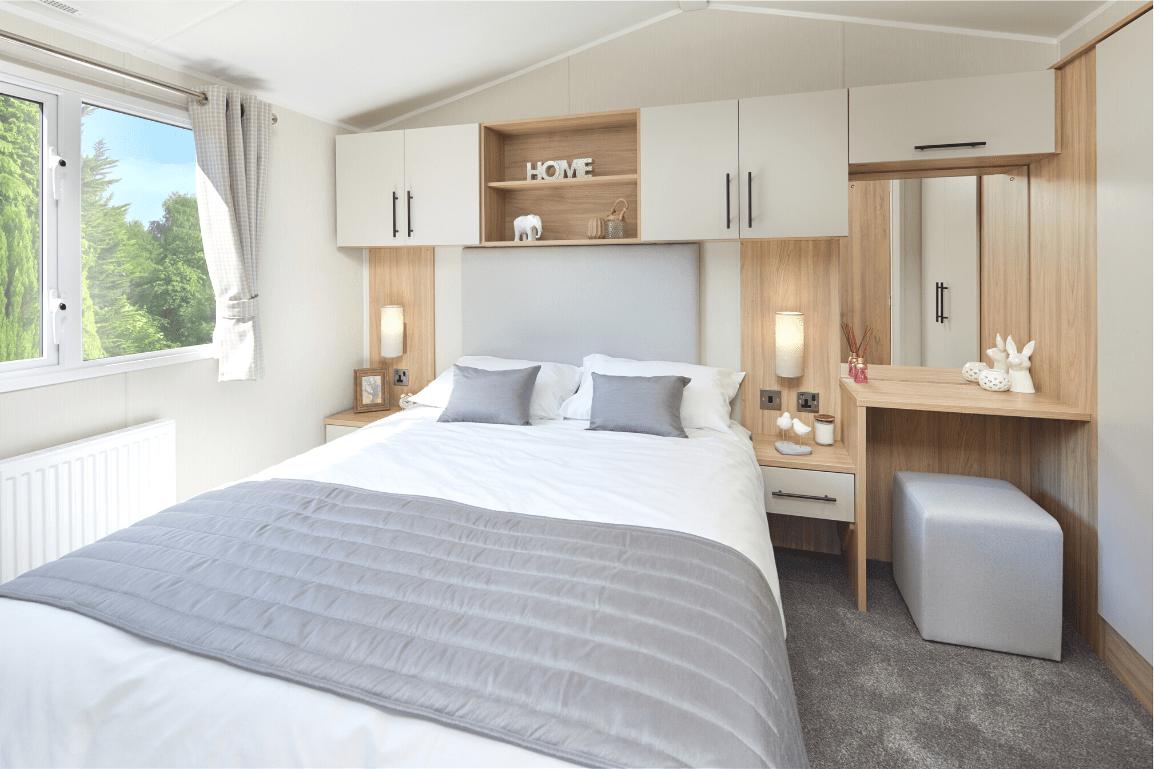 New 2021 Willerby Manor 38ft x 12ft - 2 Bedroom Static Caravan Holiday Home Sited On North Wales Caravan Park - Bryn Defaid Lodge and Caravan Park, Nr Abergele, North Wales - Master Bedroom With Ensuite