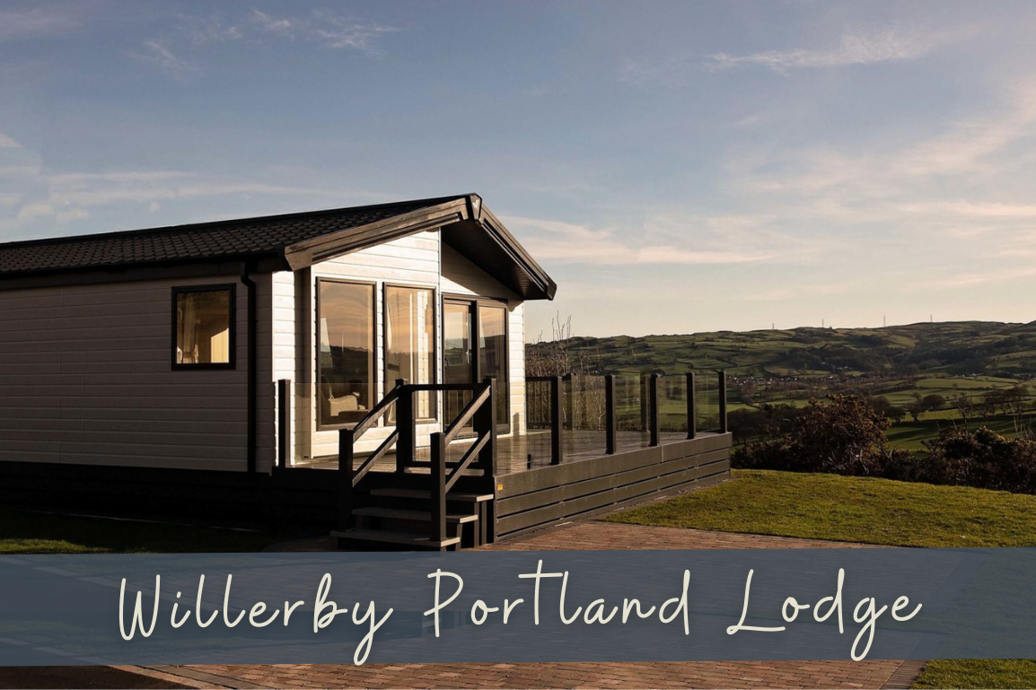 Last lodge plot on Bryn Defaid Lodge and Caravan Park nr Abergele, North Wale - New 2021 Willerby Potland Lodge 40ft x 20ft