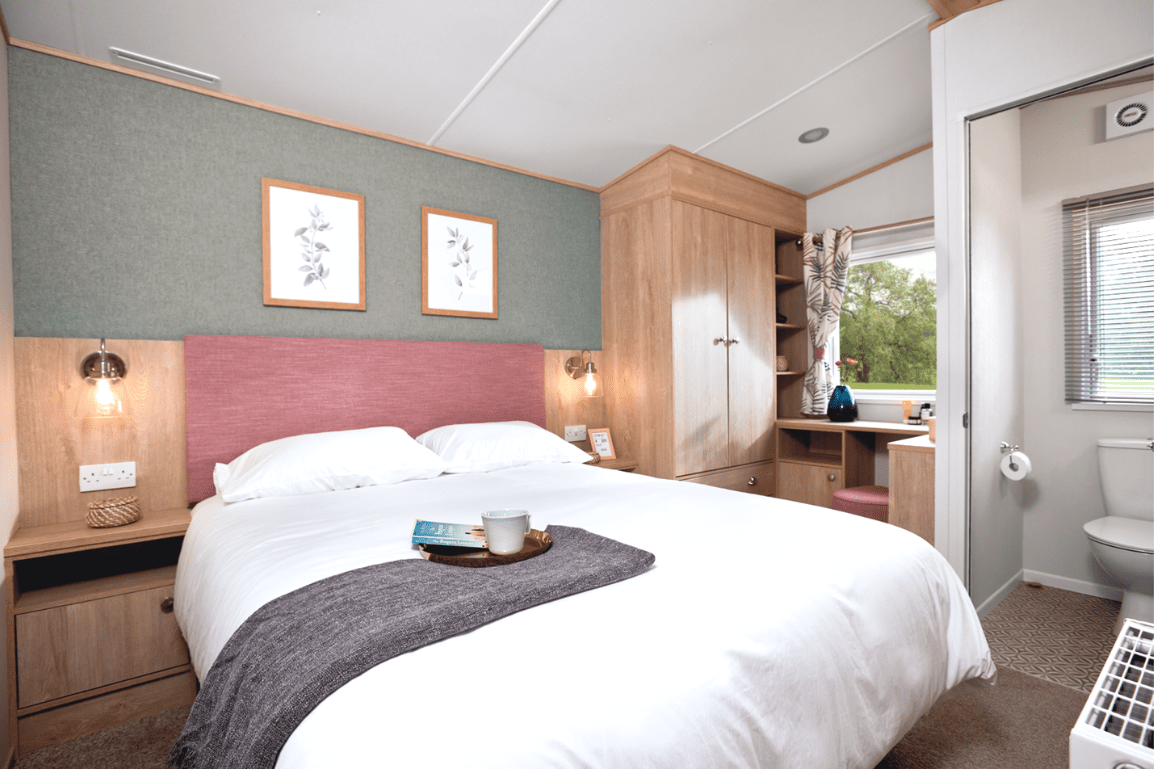 New 2021 ABI Roecliffe 39ft x 12ft - 2 Bed Static Caravan Holiday Home For Sale at Bryn Defaid Lodge and Caravan Park, Nr Abergele North Wales - Master Bedroom