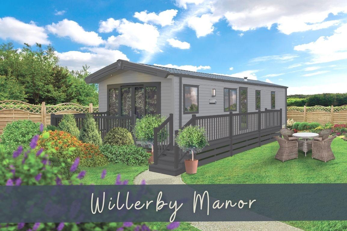 New 2021 Willerby Manor 38ft x 12ft - 2 Bedroom Static Caravan Holiday Home Sited On North Wales Caravan Park - Bryn Defaid Lodge and Caravan Park, Nr Abergele, North Wales - External View