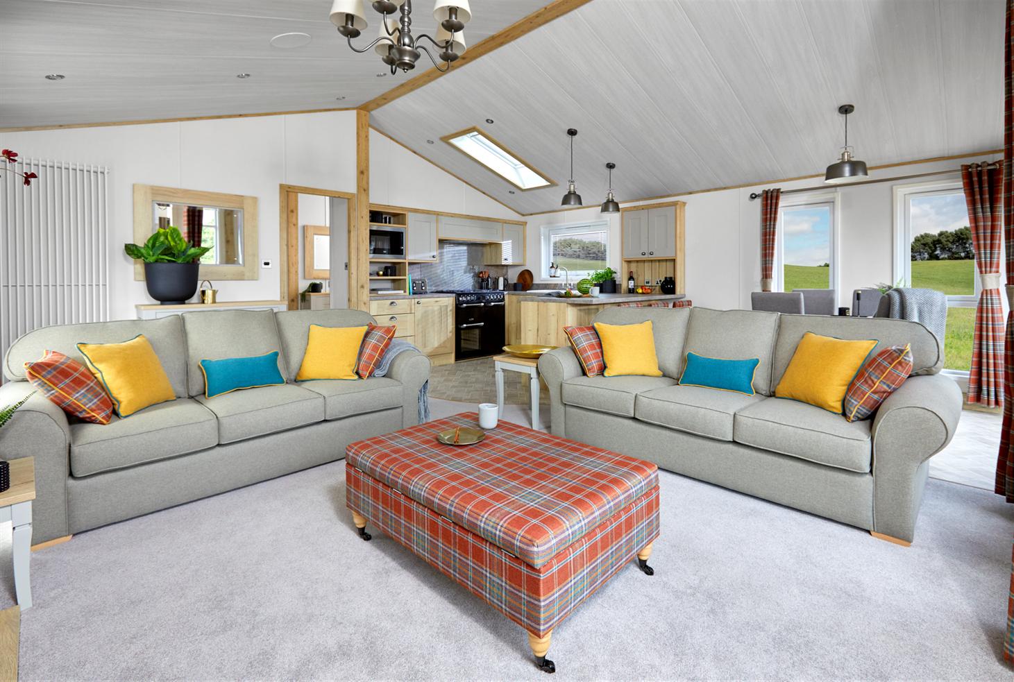 New 2021 ABI Harrogate Lodge 41ft x 20ft - 2 - lounge view