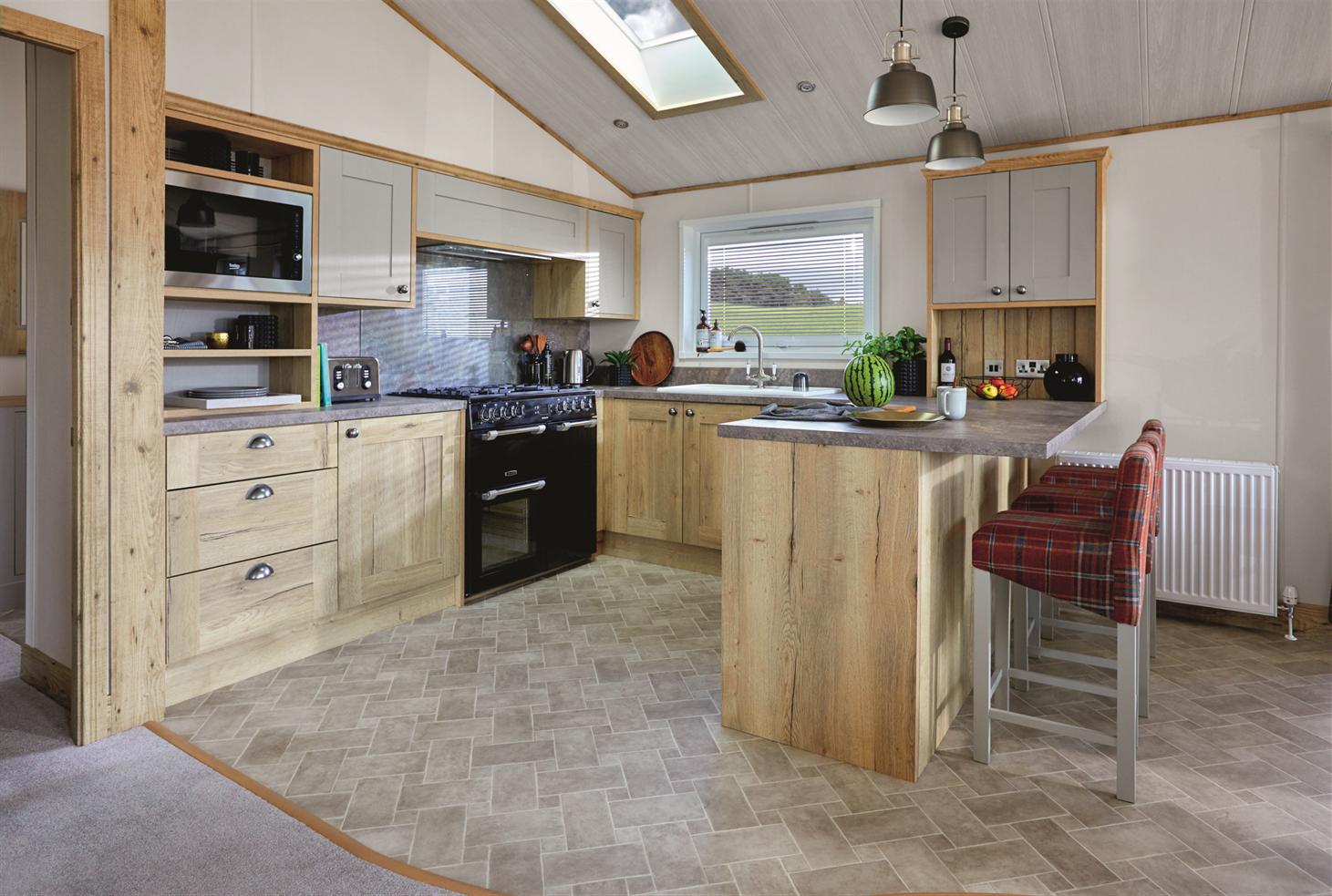 New 2021 ABI Harrogate Lodge 41ft x 20ft - 2 - kitchen view